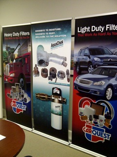 CARQUEST banner stands