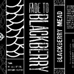 Fade To Blackberry label design