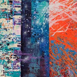 """30"""" x 15"""" Abstract Painting"""