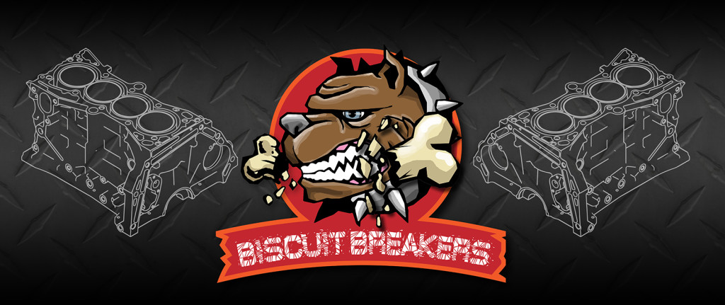 Biscuit Breakers ERGO CUP Banner for back wall of booth. For Honda of America