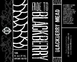 Fade To Blackberry label design